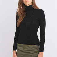 Urban Outfitters Wide Ribbed Turtleneck Top - Urban Outfitters