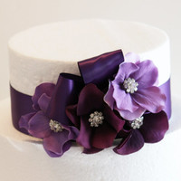 Purple and Lilac Wedding Cake Decorations, Purple Wedding Accessory, Purple Cake Decoration, Birthday Cake , Baby shower, Sweet 16, Peach