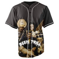 Been Trill Royalty Black Button Up Baseball Jersey
