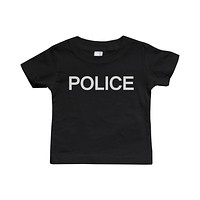Graphic Snap-on Style Baby Tee, Infant Tee - POLICE
