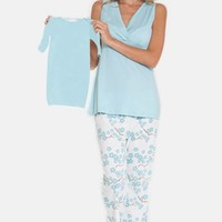 Women's Olian 4-Piece Maternity Sleepwear Gift Set