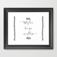 My Love for You is Endless. Framed Art Print by Jess Designed - Jessica Beau. | Society6