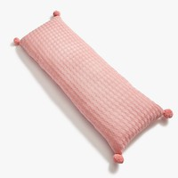 Blush Checkered Cable Knit Body Pillow