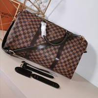 Kuyou Lv Louis Vuitton Gb29714 M40569 Brown Travel All Collections  Keepall Bandouli¨¨re 50