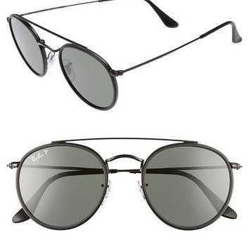Ray-Ban 51mm Polarized Round Sunglasses | Nordstrom