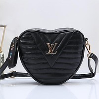 Louis Vuitton LV Heart Women Fashion Leather Crossbody Shoulder Bag Satchel