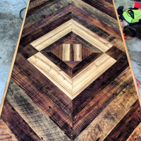 Reclaimed Chevron Table