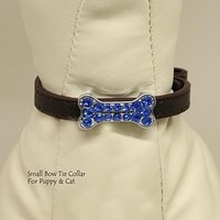 Copy of Dog Cat Collar, Leather, Charm, XS Collars,  Puppy collars, Cat Collar, kitten collar, Pet collar , Wedding dog collar