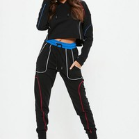 Missguided - Black Piped Joggers