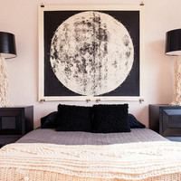Very Large Moon Chart (unmounted ) The largest and best silkscreen ever