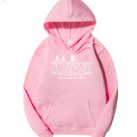 Stranger Things around the alphabet men and women grab a hooded hooded jacket winter