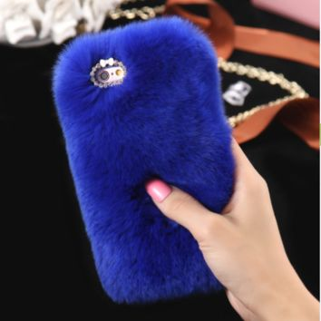Fuzzy iPhone Case, Multiple Colors
