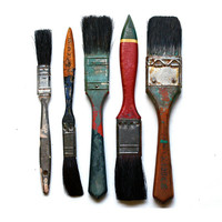 Instant Collection Vintage Paint Brushes