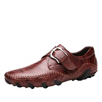Breathable Soft Moccasins Formal Leather Shoes