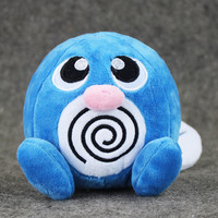 1Pcs 12cm Anime Cartoon Poliwag Plush Doll Toys Squirtle Pikachu Charmander Bulbasaur Animal Dolls Great Gift