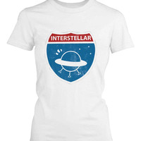 Funny Graphic Statement Womens White T-shirt - Interstellar