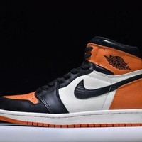 JORDAN Retro 1 high-top fashion casual contrast sneakers DCCK