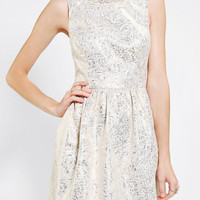 Cooperative  Metallic Tapestry Fit & Flare Dress - Urban Outfitters