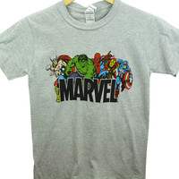Marvel T-Shirt - Logo with Characters