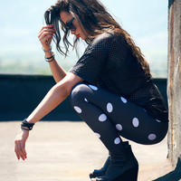 All Season Fashionable Stretchable Dotted Pants Leggings A950