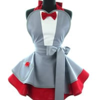 Retro Apron - Pee Wee Herman Playhouse Sexy Womans Aprons - Vintage Apron Style - Playhouse Pin up Rockabilly Cosplay Lolita