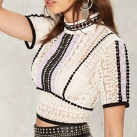 Nasty Gal World Turning Crochet Lace Top