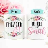 Engaged AF Mug, Engaged, Newly Engaged, Future Mrs, Gift for bride to be, AF, Future Mrs Mug, Soon to Be bride, Engagement Gift, Funny mug
