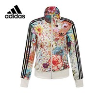 Adidas Original New Arrival Official Women's Jacket Breathable Stand Collar Leisure Sportswear AJ8151