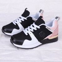 Louis Vuitton LV Fashionable Women Casual Sport Shoes Sneakers Black/Pink