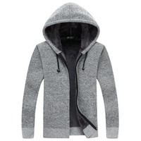 Cardigan Masculino New Winter Thick Warm Sweater Men Wool Sweaters High-quality Men's Hooded Loose Style Casual Coats XXXL