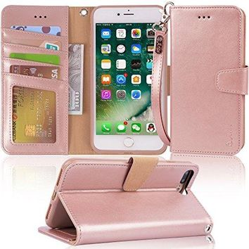 iphone 7 plus (2016) /iPhone 8 plus, Area PU leather wallet Case