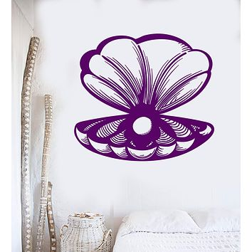 Vinyl Wall Decal Shell Pearl Sea Ocean Marine Decor Stickers Unique Gift (503ig)
