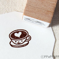 Love coffee Small Rubber Stamp