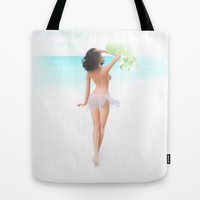 Where the weather's warm and the girls are pretty. Tote Bag by John Medbury (LAZY J Studios)