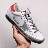 Kuyou Fa19630 Golden Goose Ggdb Silver Stars 18ss Leather White Sneakers