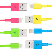 Color Lightning USB Data Cable Charger Cord For Apple iPhone 6 6S 6S Plus 5s SE