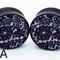 Black Lace BMA Plugs 00g (9.5mm)