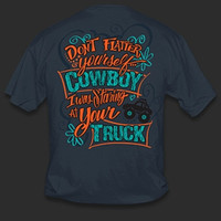 Sweet Thing Funny Don't Flatter Yourself Cowboy Cowgirl Girlie Bright T-Shirt