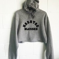 Hashtag Blessed Cropped Hoodie