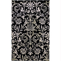 Area Rug - 2' X 3' - Colors Include Winter White And Jet Black