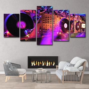 DJ Set Wall Art Canvas Prints