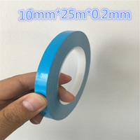 1rol DS203 Thermal Dissipation Adhesive Tape Blue Double Sided LED Adhesive Tape for IC Cooling Fin Fixed Free Shipping Russia