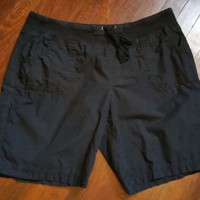 Women's Calvin Klein Black 100% Cotton Shorts Soft Drawstring Waist Size XXL