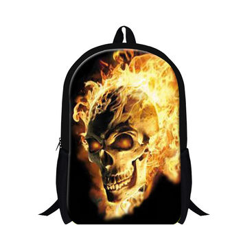 Lightweight Backpacking Bag for Children Skull School backpacks for Boys Stylish Mochilas Bookbags Back Pack for Girls Book Bag