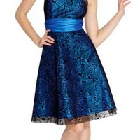 Rose Lace Over Satin Prom Dress Formal Cocktail Gown Junior and Junior Plus Size