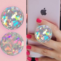 Holographic rainbow Diamond 3D sticker