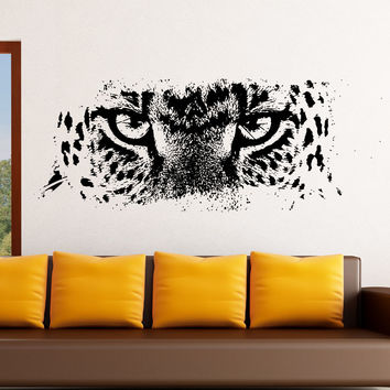 Vinyl Wall Decal Sticker Leopard Eyes #5522