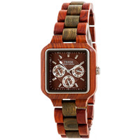 Tense Square Natural Sandal/Green Wood Hypoallergentic Watch B7305SG DF