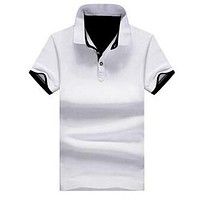 Solid Mens POLO Shirts Brand Cotton Short Sleeve Camisas Polo Summer Stand Collar Male Polo Shirt