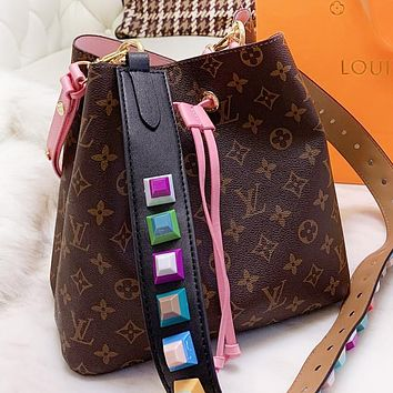 Louis Vuitton LV  Fashion New Monogram Leather Shoulder Bag Crossbody Bag Bucket Bag